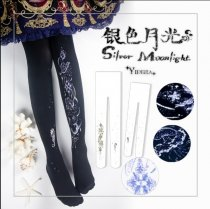 【Yidhra】Silver moonlight~The Pearl of the Sea x the Moon of the Tide lolita pantyhose/tights