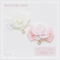 Sweetdreamer Midsummer Night Dream Rose Water drill Bowknot Lolita hairpin brooch