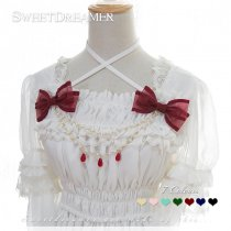 Sweetdreamer Cedar bow water drop Lolita chest chain