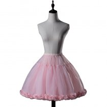 【ClassicalPuppets】Super Puffy Bell Silhouette Petticoat with special lace Trims
