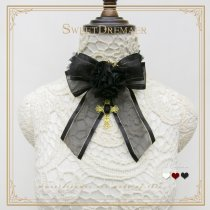 Sweetdreamer Traveler's hymn Rose cross vintage gothic lace necklace