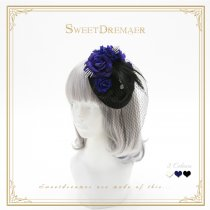 Sweetdreamer Dark voice Feather cross Lolita veil cap
