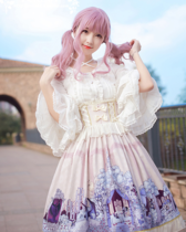 MILU FOREST~Sleeping beauty high waist Lolita skirt