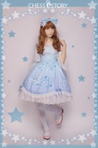 ChessStory~Dreamy Starry Night series print lolita JSK dress