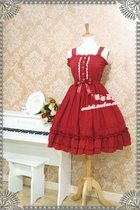 Strawberry Witch~Candy chiffon dress ice cream puffs JSK dress