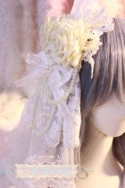 【Night Tales】White rose lolita headdress/hair clip