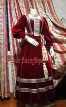 SurfaceSpell ~Renaissance velvet gown with sleeves and ribbon