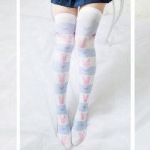 Sweet Lolita Lovely Rabbit Striped Printing Tigths