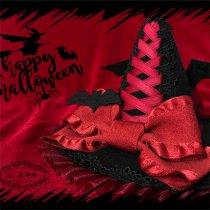 L*Hat Bat Halloween*Witch mini hat Halloween with bat
