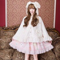 Sweet Lolita Woollen Cape With Rabbit Ears