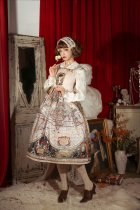 cyan Lo*Map series *Print Lolita Jsk Dress