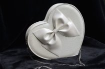 loris*Sweet Glitter Heart Shaped Bow Lolita Cross Body Bag