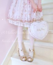 MilkyWay*Lovely Lace & bows love-shape Lolita Bag