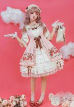 Strawberry chiffon~Printing Lolita OP Dress