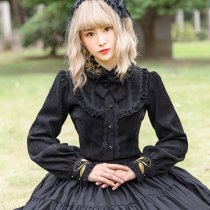 Thickening  Corduroy Warm Long-sleeved Lolita Blouse/Shirt
