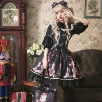 Coronation bear~Printing Lolita JSK Dress Verison Ⅰ