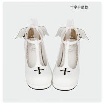 【 Angelic imprint】Cross devil angel wings Lolita shoe