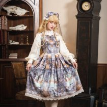 Evening of the gods~Elegant Vintage Lolita  Vest Dress