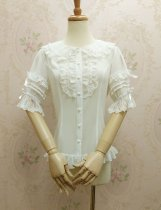 Doll collar chiffon lace Lolita blouse