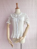 Elegant puff sleeve and chiffon lace lolita blouse