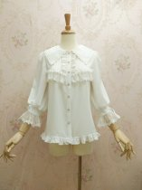 Gorgeous chiffon lace and long sleeve lolita blouse