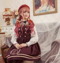 Magic music shool~Embroidery Lolita JSK Dress