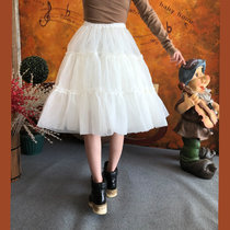 Lolita A-line petticoat Below the knees Fluffy petticoat 2 layer organza petticoat