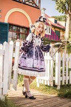 Fox's clinic~Daily Sweet Print High Waist Lolita OP Dress  Pre-order