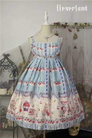 *Neverland*Cherry & deer 2018 lovely printing lolita JSK dress version Ⅰ pre-order