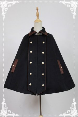*Neverland*Double-breasted woolen cape