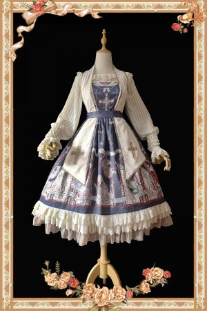 The angel choir~Print 4 Color Lolita Jumper Skirt