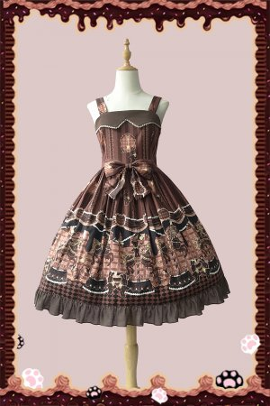 Chocolate Trojan~Simple version Lolita Jumper skirt