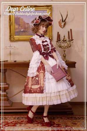The Sound of Music~Gorgeous hime sleeves Lolita OP Dress