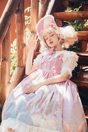 Pegasus~Print Sweet Lolita JSK Dress High Waist  Version Ⅱ