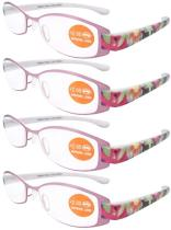 Reading Glasses 4-Pack Patterned Arms Readers R11011