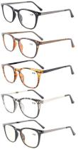 5-Pack Plastic Frame Metal Arms Reading Glasses Include Computer Glasses RJ003-5pc-Mix
