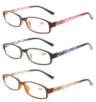 3 Pack of Women Reading Glasses With Beautiful Pattern And Soft Case R908-Mix