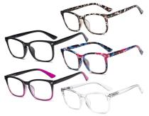 5 Pack Stylish Reading Glasses for Women RT1801