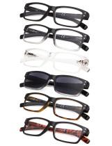 Reading Glasses 6-pack Vintage Classic Frame Readers Women Men R032