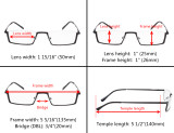 Reading Glasses 3 Pairs Mix Half-Rim with Quality Spring Hinges Readers R1613-3pcs-Mix