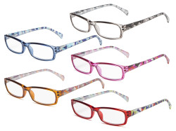 5-pack Reading Glasses Fashion Stylish Readers Women RT1803