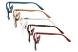 Reading Glasses 5 Pairs Spring Hinges Classic Rectangular Frame R163