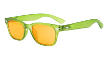Computer Reading Glasses Blue Blocking Anti Reflective Dark Orange Lenses Green DS148