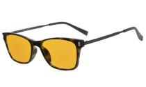 Computer Reading Glasses 97% Blue Blocking Anti Glare Full-frame Dark Orange Lens Tortoise DSDT1793