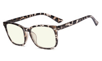 Blue Light Filter Computer Glasses for Women Tortoise UVRT1801