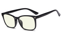 Blue Light Filter Computer Reading Glasses for Women Black UVRT1801