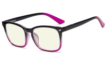 Blue Light Filter Computer Glasses for Women Black-Purple UVRT1801