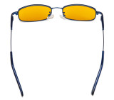 Computer Glasses Anti Blue Light Girls Rectangle Memory Frame Blue DSK1804