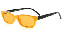 Computer Glasses 99% Blue Light Blocking 100% UV Protection Tinted Lens For Children Yellow-Black DSK02