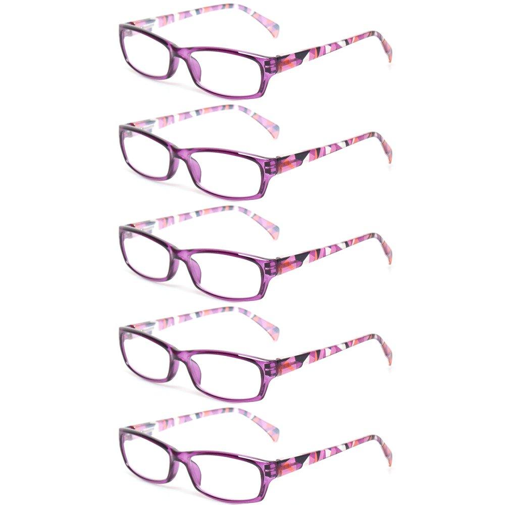 Eyekepper Fashion Readers Womens Reading Glasses Purple-Red Frame, 0.75